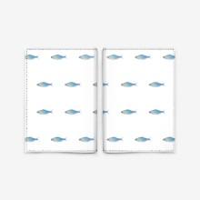 Blue fish pattern