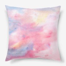 Watercolor abstract background on paper with yellow  blue  purple and pink colors