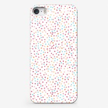 Watercolor abstract seamless pattern background with yellow  blue and pink dots on white2