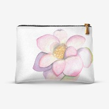 Watercolor hand drawn illustration of lotus flower isolated on whitebr