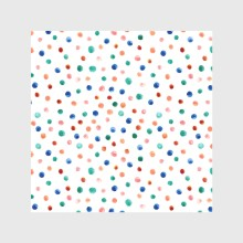 Watercolor hand drawn illustration seamless pattern background with colorful dots isolated on white2