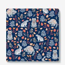 Forest animals pattern 01