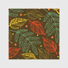 Autumn leaves. seamless pattern. autumn background. hand draw
