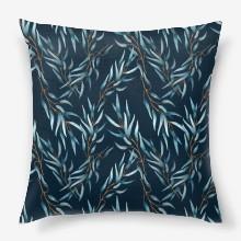 Pattern seamless eucalyptus green