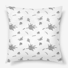 Forget me not seamless simple pattern light black