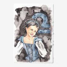 Libra medieval girl