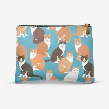 Cats pattern ginger turq 01 4x