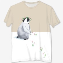 Penguin in a wreath for stocks