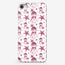 Pattern s meduzami i morskimi zvezdami