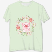 Pig and flowers pb