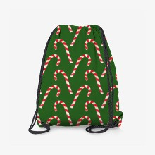 Candy cane pattern green