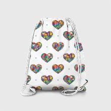 Hearts mosaic 32
