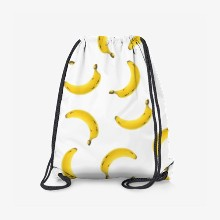 Pattern banana white background
