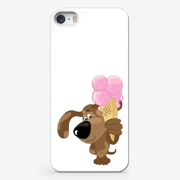 Чехол iPhone «Собака с мороженым»