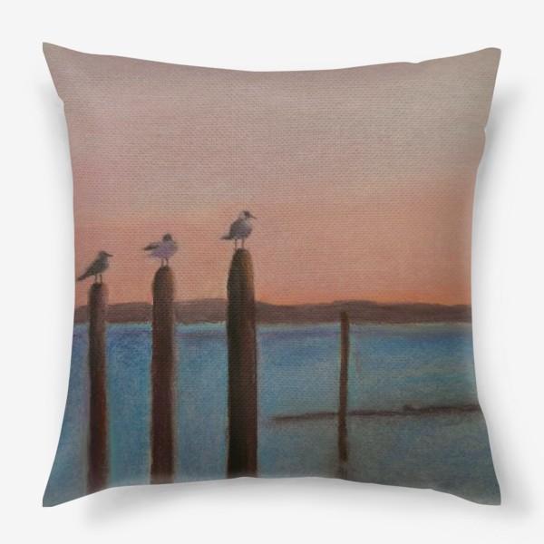 Подушка «Венеция. Чайки»