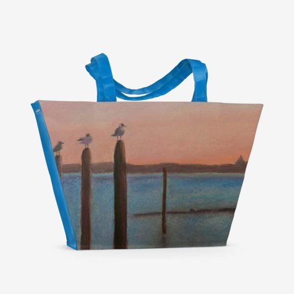 Пляжная сумка «Венеция. Чайки»