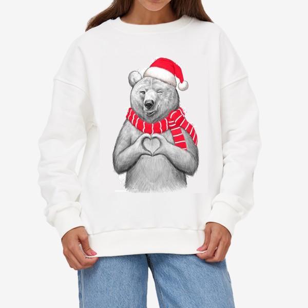 Свитшот «Новогодняя медведица»