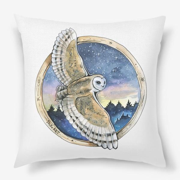 Подушка «Сова - волшебная иллюстрация»