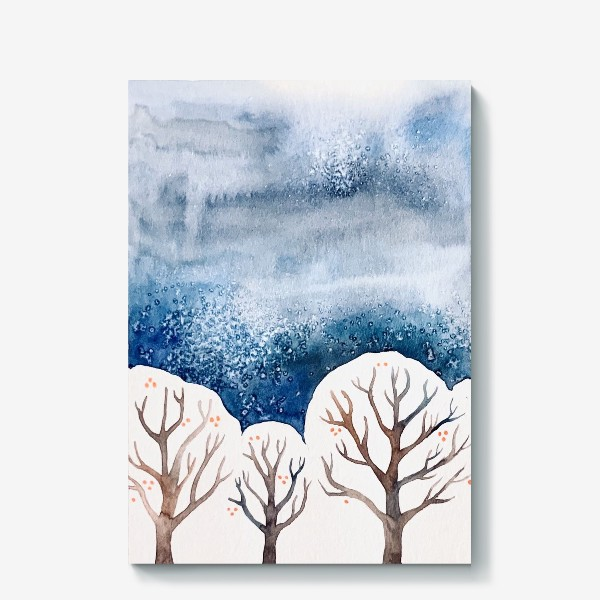 Холст «Зимний лес»