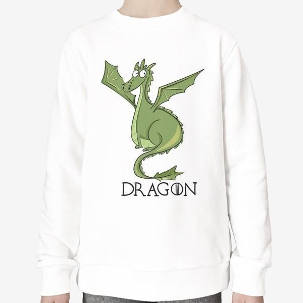 Свитшот «Дракон зеленый»