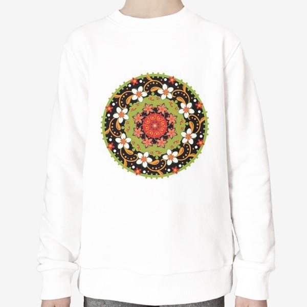 Свитшот «Цветочный узор в русском народном стиле»