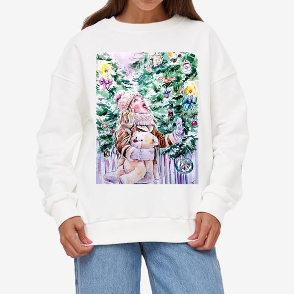 Свитшот «девочка со снежинками»
