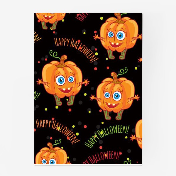 Постер «Бесшовный паттерн на хеллоуин»