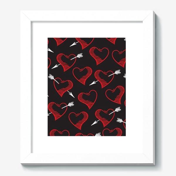 Картина «Бесшовный паттерн с сердечками»