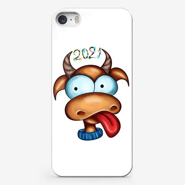 Чехол iPhone «Веселый Бык 2021»