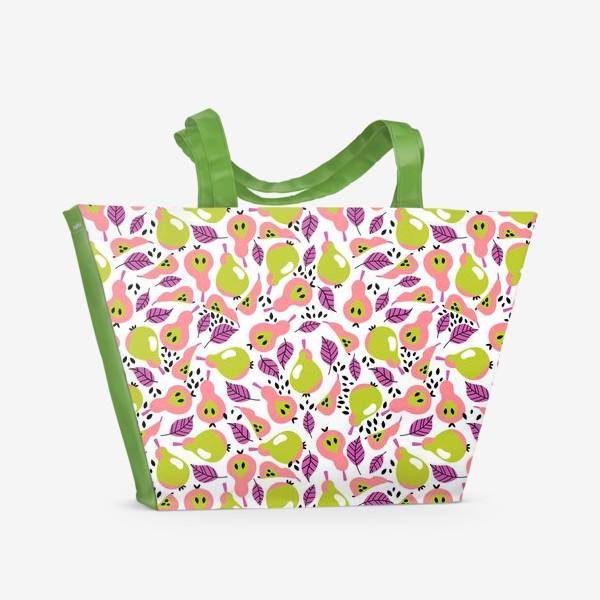 Пляжная сумка «Сочные поп-арт груши»