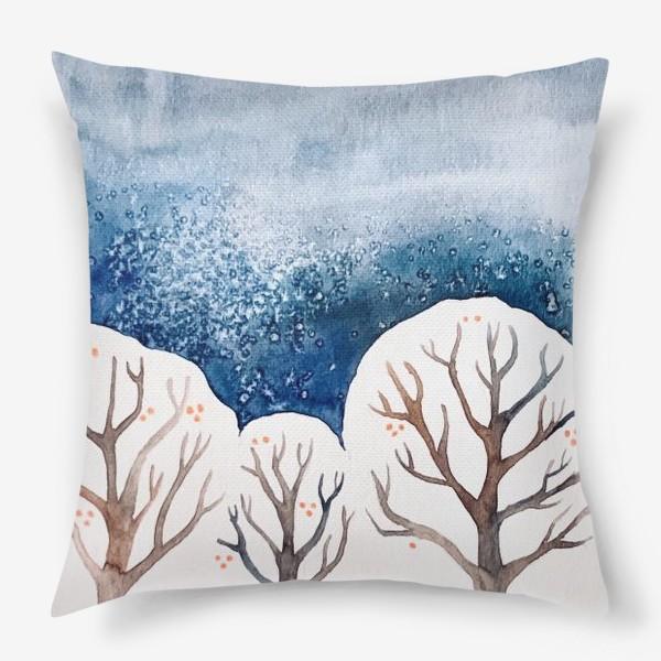 Подушка «Зимний лес»