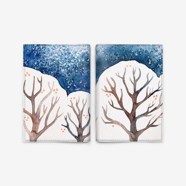 Обложка для паспорта «Зимний лес»