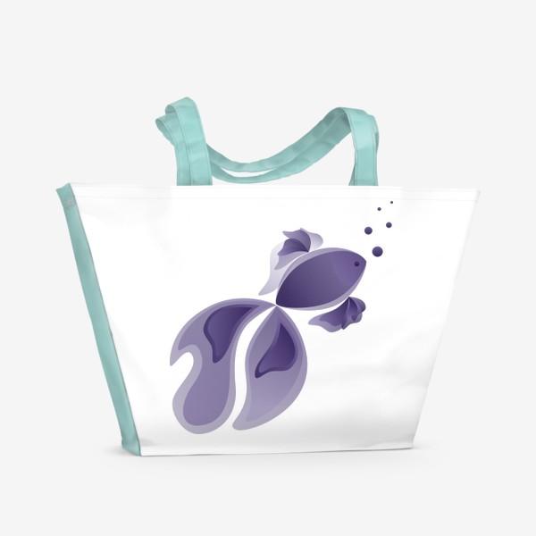 Пляжная сумка «Lavender Fish»