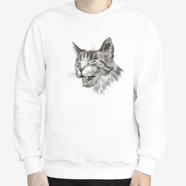 Свитшот «портрет кошка чихает»