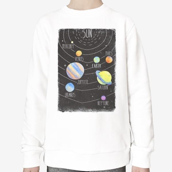 Свитшот «sun system»