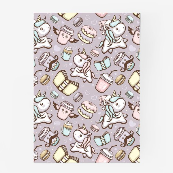 Постер «Sweet Unicorn pattern»