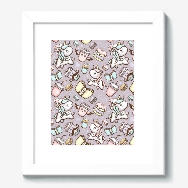 Картина «Sweet Unicorn pattern»