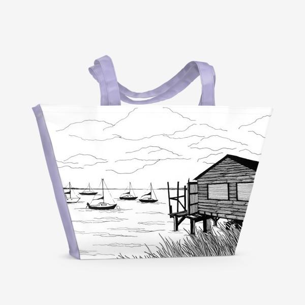 Пляжная сумка «Лодки»