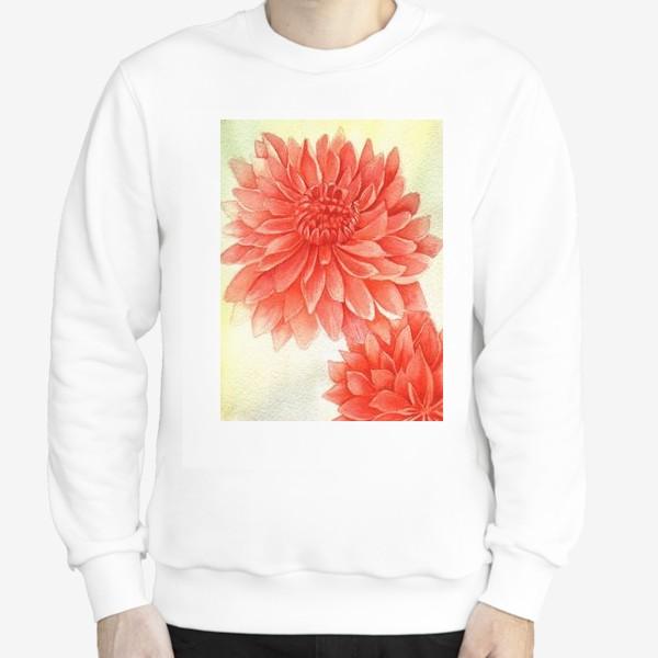 Свитшот «Красные цветы»