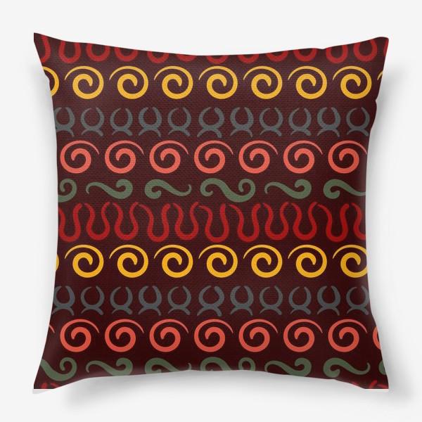 Подушка «Этнический Африканский рисунок»