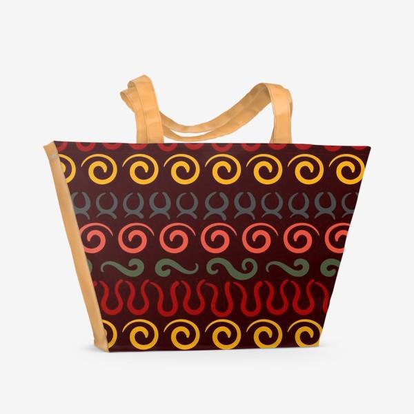 Пляжная сумка «Этнический Африканский рисунок»