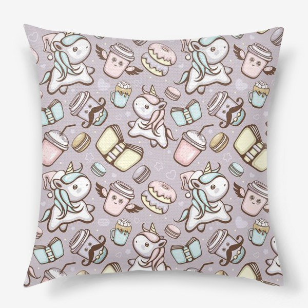 Подушка «Sweet Unicorn pattern»