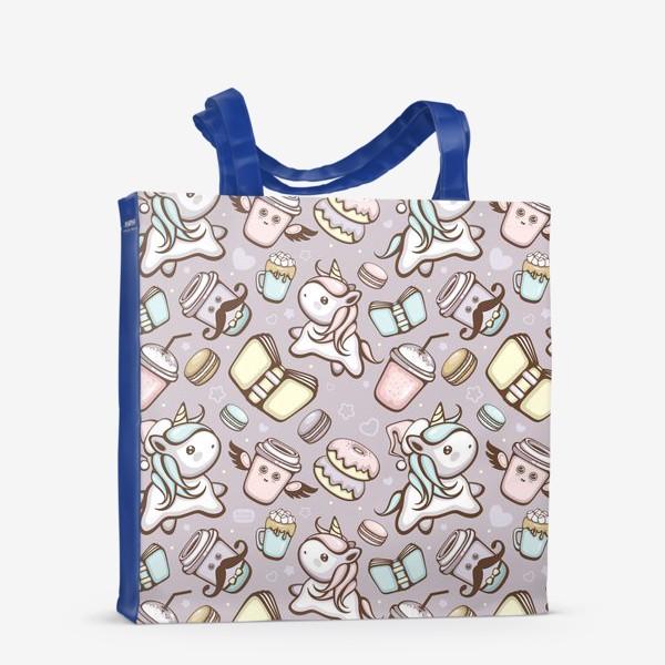 Сумка-шоппер «Sweet Unicorn pattern»