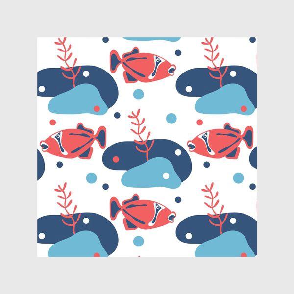 Скатерть «Подводный мир, Рыбы,»