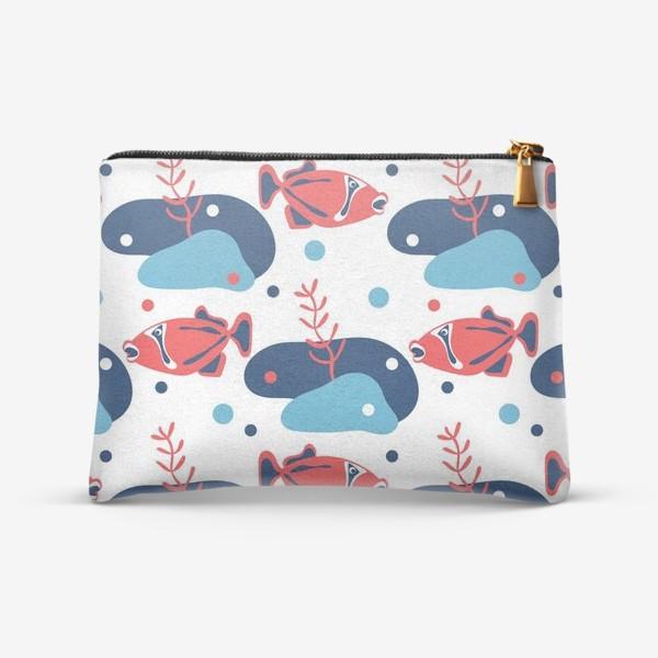 Косметичка «Подводный мир, Рыбы,»