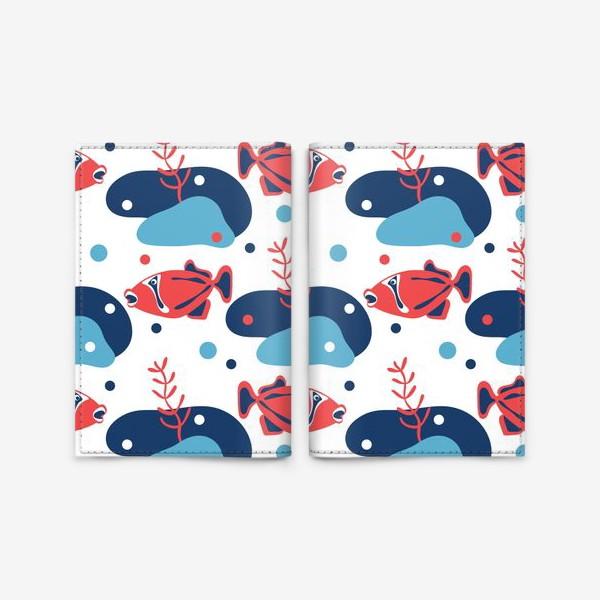 Обложка для паспорта «Подводный мир, Рыбы,»