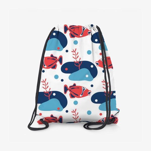 Рюкзак «Подводный мир, Рыбы,»