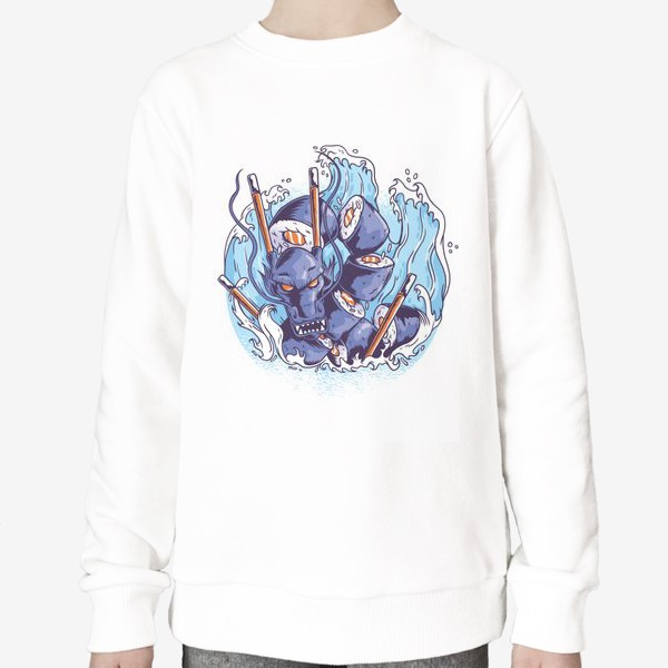 Свитшот «Морской суши дракон»