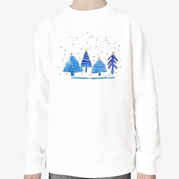 Свитшот «Зимние новогодние елки»