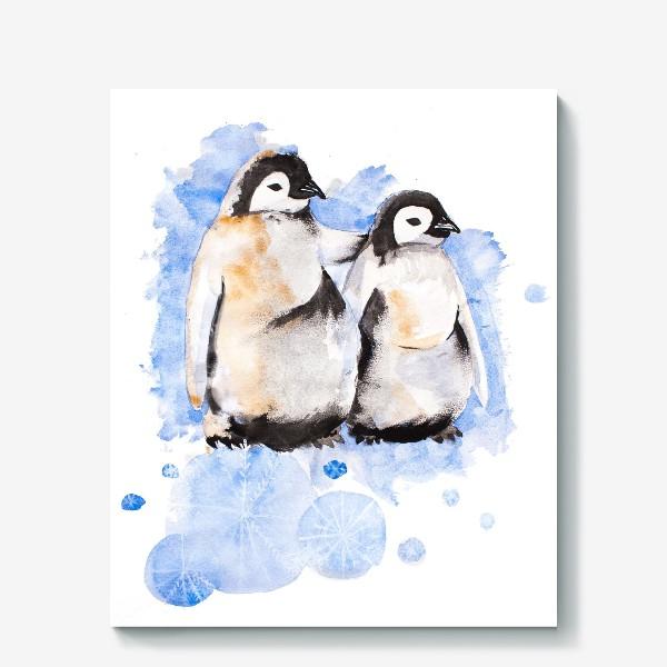 Холст «Пингвины»